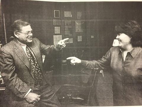 Jennifer Jones Auger with her Father Tom Jones